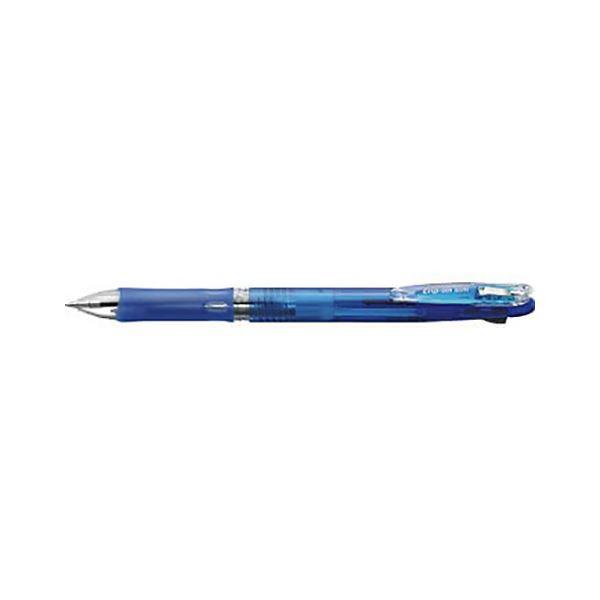 (まとめ) ゼブラ クリップオンスリム 2色ボールペン 青(インク色:黒・赤) ボール径:0.7mm【×50セット】