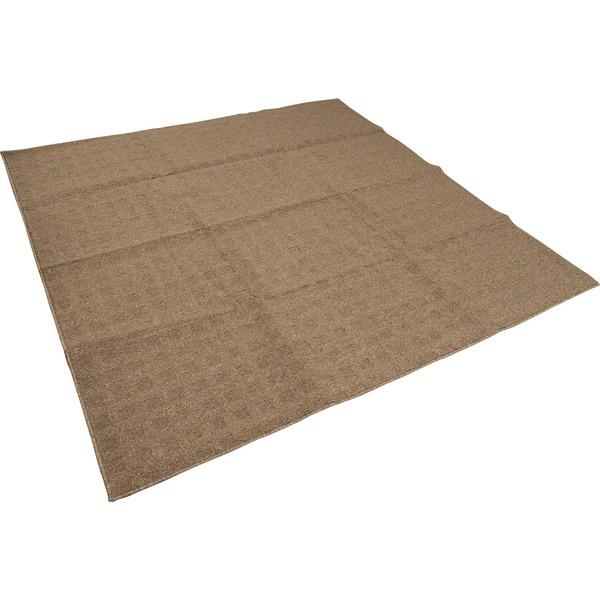 カーペット ラグ 平織 レベルループ / 約3.7畳 240×240cm ブラウン クロス