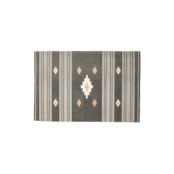 モダン ラグマット/絨毯 【170×230cm TTR-163A】 長方形 綿 インド製 〔リビング ダイニング フロア 居間〕