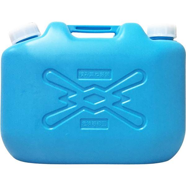 (まとめ) 灯油缶/灯油用ポリタンク 【青 10L】 コンパクト キャップ口径:50mm JISマーク付き 【10個セット 】