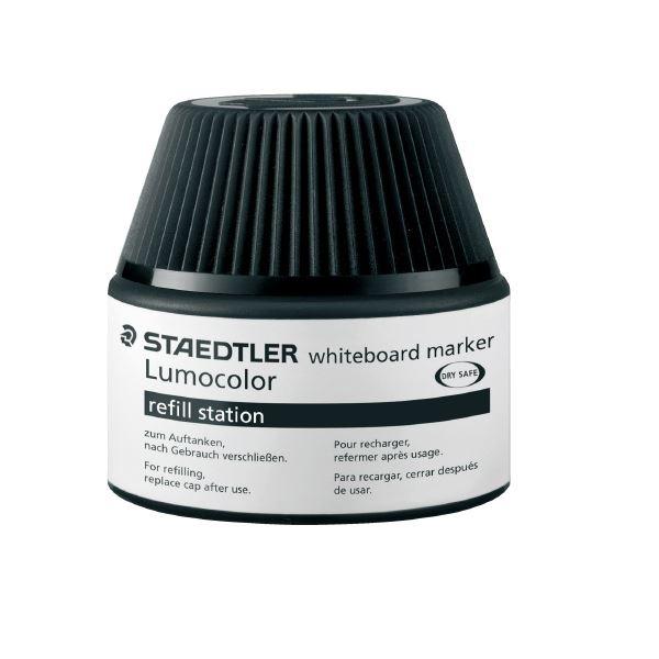 (まとめ)ステッドラー ルモカラーボードマーカーインク ブラック【×30セット】