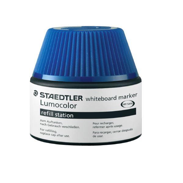 (まとめ)ステッドラー ルモカラーボードマーカーインク ブルー【×30セット】
