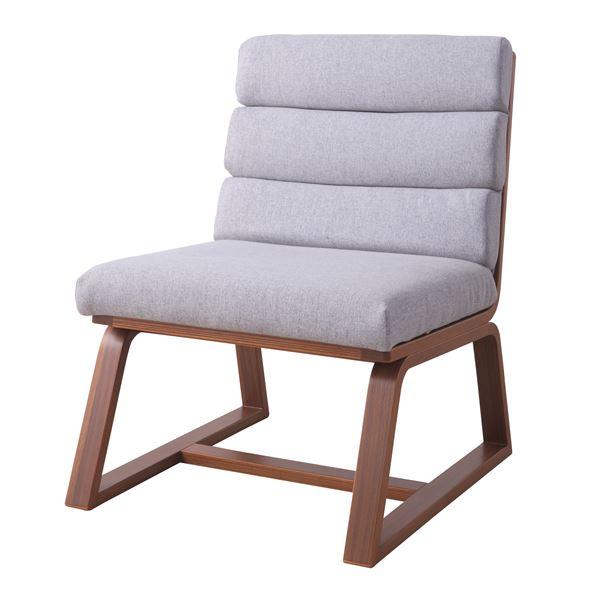 北欧風 パーソナルチェア/腰掛け椅子 【ブラウン】 幅52.5cm 耐荷重80kg 綿 ポリエステル 〔リビング 店舗 飲食店〕