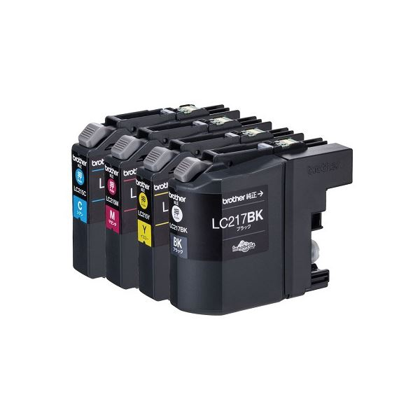 ブラザー インクカートリッジ 4色パック大容量 LC217/215-4PK 1箱(4個:各色1個)