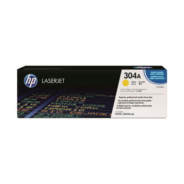 HP プリントカートリッジ イエローCC532A 1個