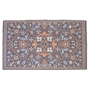 エスニック風 ラグマット/絨毯 【170×230cm TTR-169A】 長方形 インド製 〔リビング ダイニング 応接間 客間〕