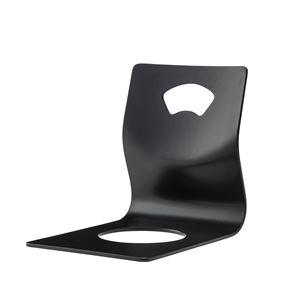 和風 座椅子/フロアチェア 【4脚セット 取っ手付き ブラック】 幅36×奥行52×高さ43cm 〔リビング 座敷 和室 客室〕