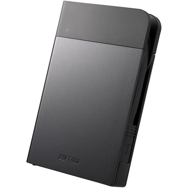 バッファロー ICカードロック解除 MILスペック耐衝撃ボディー防雨防塵 ハードウェア暗号化機能搭載USB3.0用 ポータブルSSD 240GB ブラック SSD-PZN240U3-BK【送料無料】