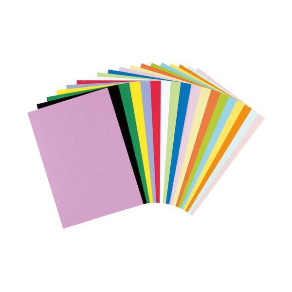 (まとめ)リンテック 色画用紙R 8ツ切 10枚 みずいろ 211【×100セット】