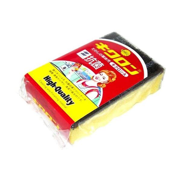 (まとめ) スポンジたわし/掃除用品 【キクロンA】 抗菌 台所掃除 【×240個セット】