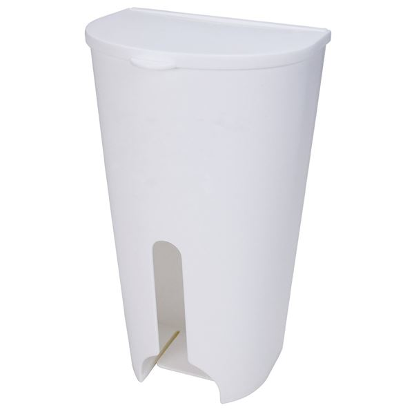 (まとめ) ポリ袋ストッカー/レジ袋ストッカー 【マグネット式】 吸盤付き ホワイト 『Mag-On』 【24個セット】