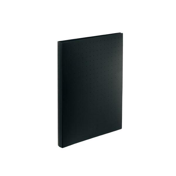(まとめ)LIHITLAB 名刺帳 A4 500枚用 黒 A-5043-24【×30セット】