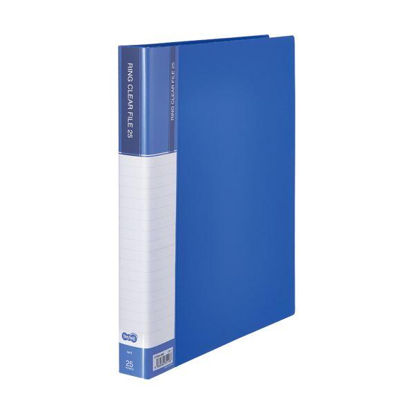 TANOSEEPPクリヤーファイル(差替式) A4タテ 30穴 25ポケット ブルー 1セット(10冊)