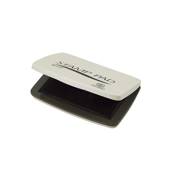 (まとめ) サンビー サンビー顔料系スタンプ台 中型 黒【×20セット】