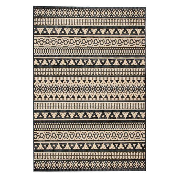 モケット ラグマット/絨毯 【195cm×250cm ネイビー】 長方形 ベルギー製 綿混 『フォレ』 〔リビング〕【代引不可】