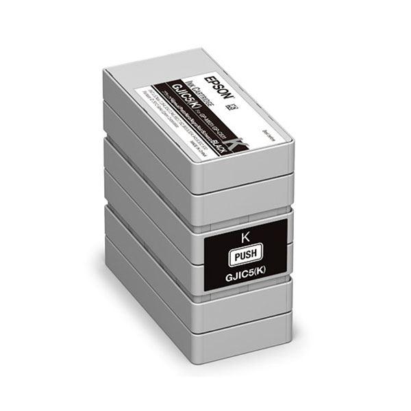 (業務用5セット)【純正品】EPSON GJIC5K インクカートリッジ ブラック