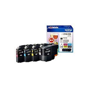 ブラザー インクカートリッジ お徳用4色 大容量 LC219/215-4PK 1箱(4個:各色1個)