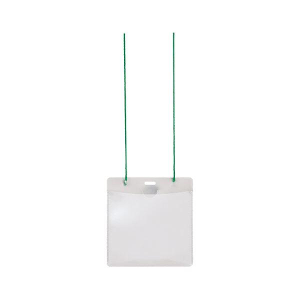 (まとめ) プラス イベント用 吊り下げ式 名札イベントサイズ グリーン CT-E1 1パック(50個) 【×5セット】