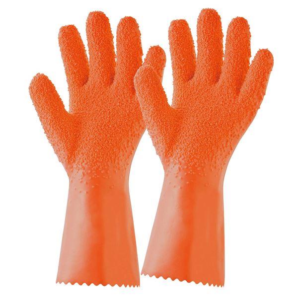 (まとめ)簡単皮むきグローブ ムッキー オレンジ OR 【48個セット】