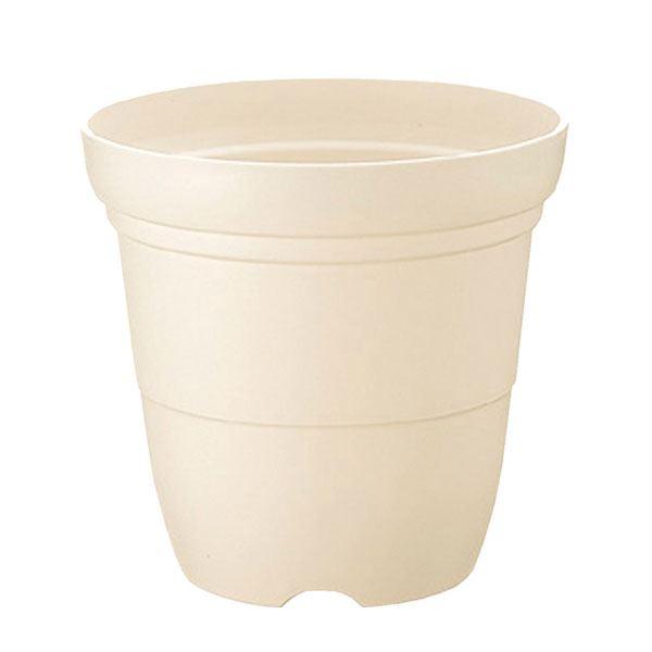 (まとめ) プラスチック製 植木鉢/ポット 【長鉢 ホワイト 7号】 ガーデニング 園芸 『カラーバリエ』 【×48個セット】