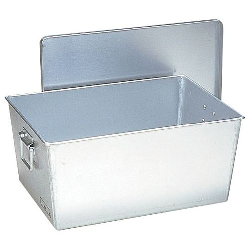 オオイ金属 アルマイト 給食用パン箱深型(蓋付) 257 45個入 APV151