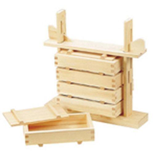 ヤマコー 木製 押し寿司 5段セット(桧材) BSS19