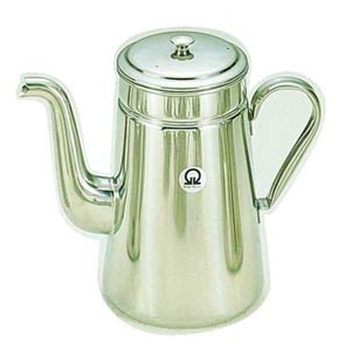 遠藤商事 SA18-8コーヒーポット #18 ツル首(電磁調理器用) FKC02001