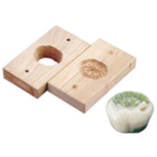 遠藤商事 手彫物相型(上生菓子用) 蓮葉 WBT20