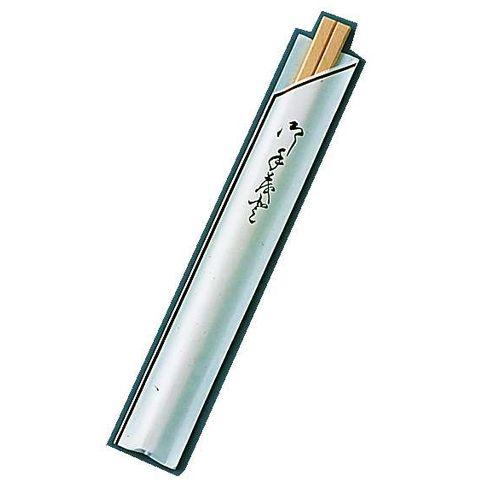 ツボイ 割箸袋入 茶線 白樺元禄 20.5cm (1ケース100膳×40入) XHSA0