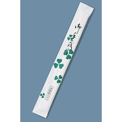 ツボイ 割箸完封 クローバー楊枝入り 白樺小判 (1ケース500膳×8袋入) XHSA4