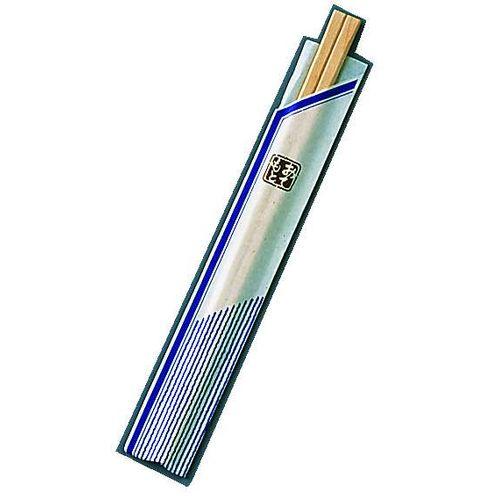 ツボイ 割箸袋入 ピース紺 白樺元禄 20.5cm (1ケース100膳×40入) XHS99