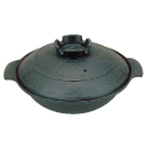 五進 鉄 寄せ鍋 (内面茶ホーロー仕上) 30cm QYS19030