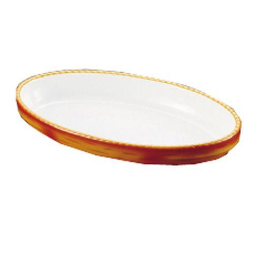シェーンバルド オーバルグラタン皿 茶 3011-40B RGL26040