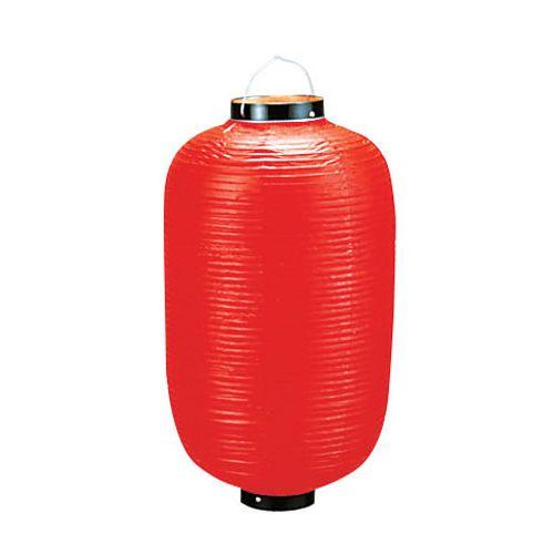 カドキ ビニール提灯長型 《18号》 赤ベタ B125 YTY01183Q