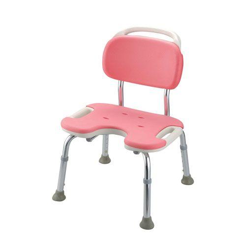 リッチェル やわらかシャワーチェア ピンク U型背付ワイド VSY0502