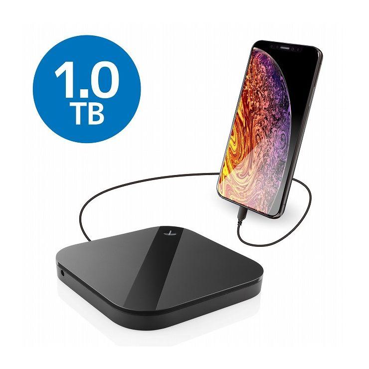 エレコム スマートフォン用外付けバックアップハードディスク ELP-SHU010UBK(代引不可)【送料無料】