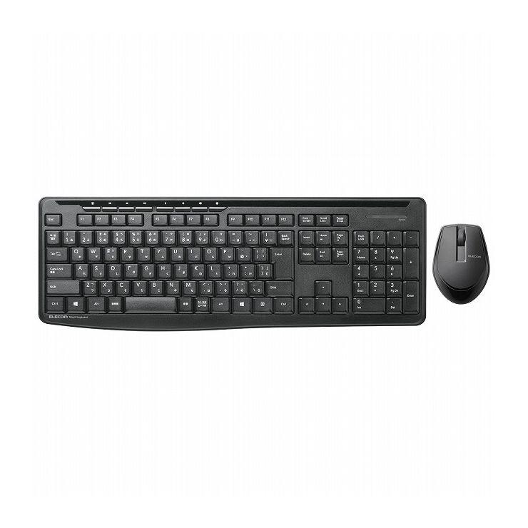 エレコム 無線静音フルキーボード&静音マウス TK-FDM092SMBK(代引不可)【送料無料】