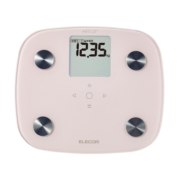 エレコム 赤ちゃん ペット 体重計 体組成計 50グラム単位 デジタル かわいい ベビースケール HCS-FS02PN(代引不可)【送料無料】