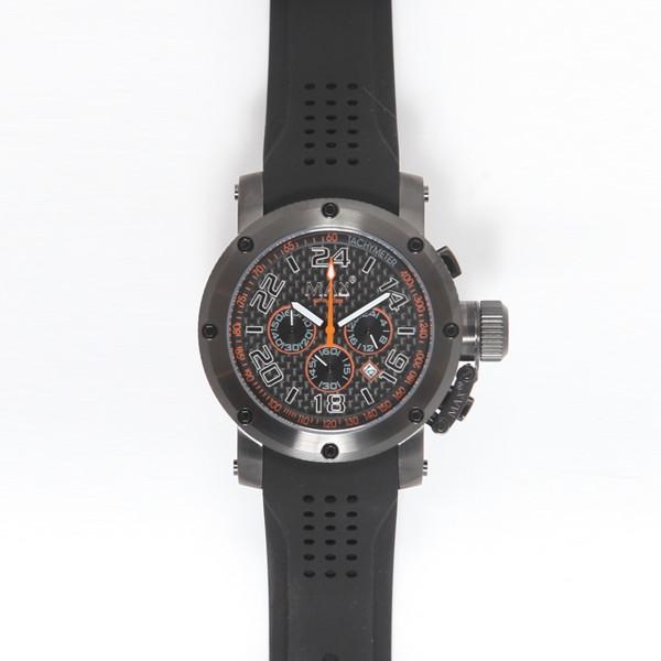 MAX XL WATCHES : 5-MAX534 47mm Big Face ラバーバンド腕時計(き)