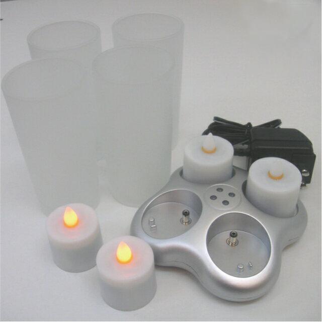 キャンドルライト smartcandle スマートキャンドル 4ピース充電式キャンドルセット SC2101(代引き不可)