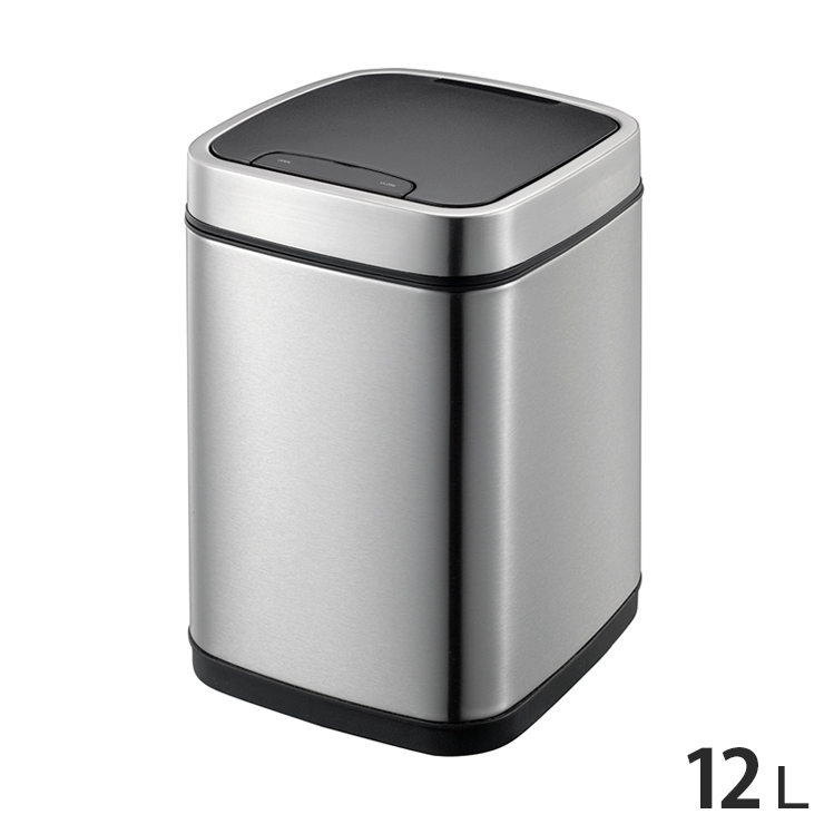 EKO エコスマートセンサービン 12L ステンレス ゴミ箱 ごみ箱 1年保証 ダストボックス キEK9288MT-12L【送料無料】