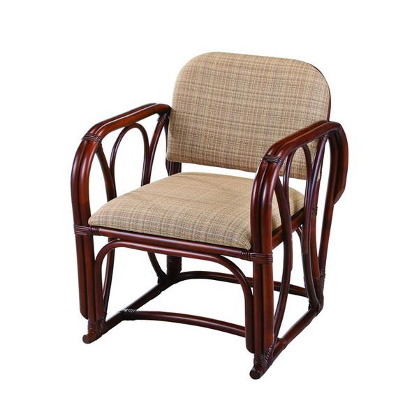 今枝ラタンチェア 籐 アームチェア ミドルタイプ アジアン家具 バリ おしゃれ 高耐久 長持ち 父の日 プレゼント A-77MD【送料無料】