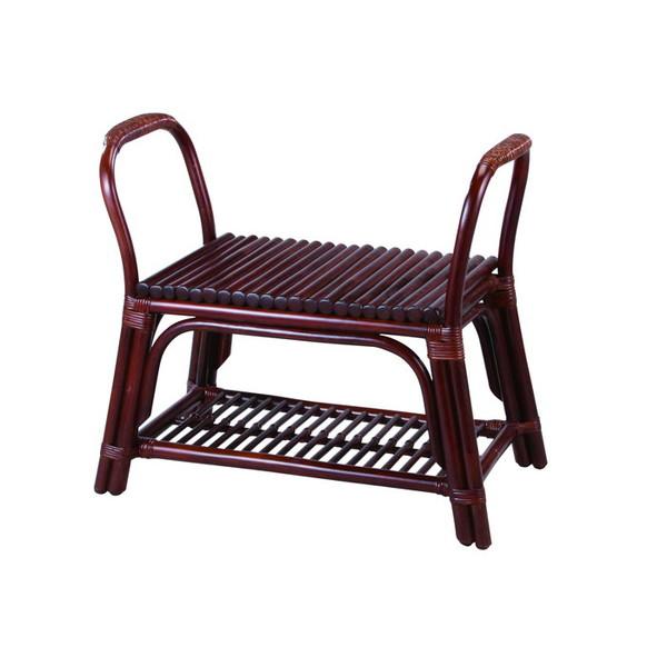 今枝ラタン 籐 玄関立ち上がり椅子 スツール アジアン家具 高級ラタン エスニック バリ おしゃれ 高耐久 長持ち S-70-1D【送料無料】