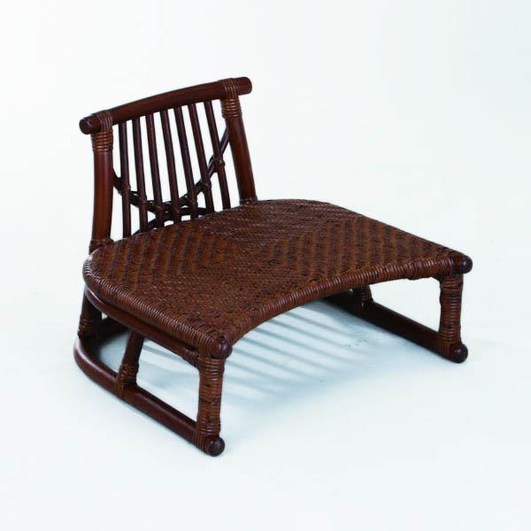 今枝ラタン 籐 背付正座椅子 アジアン家具 高級ラタン エスニック バリ 高品質 温浴備品 おしゃれ 高耐久 長持ち SZ-205D【送料無料】