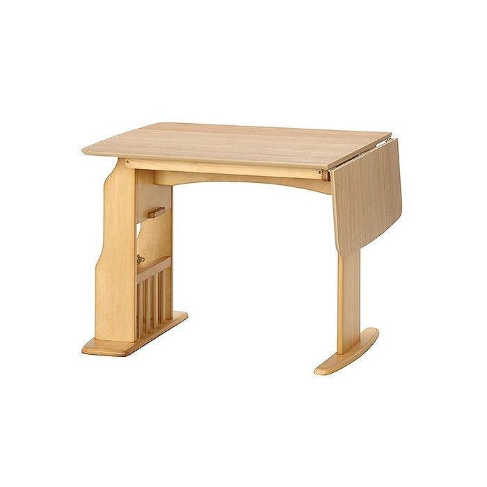 食卓4点セット テーブル12075 W1200~900×D750×H710mm プリント紙 おしゃれ ナチュラル(代引不可)【送料無料】【S1】