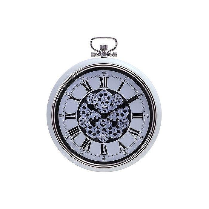 掛時計 ギア W520×D85×H642mm ABS樹脂 スチール ウォッチ おしゃれ クリーム(代引不可)【送料無料】【S1】