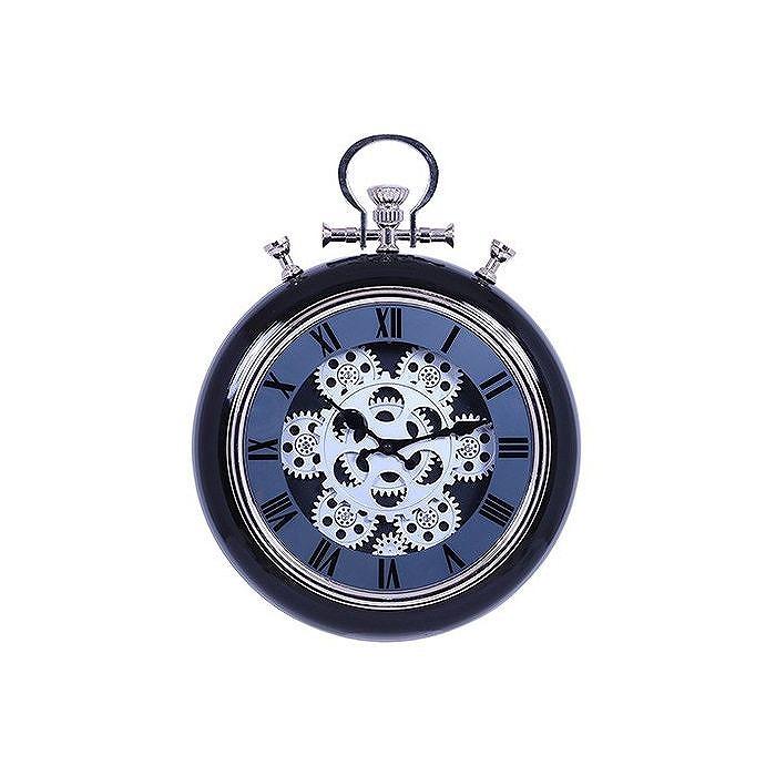 掛時計 ギア W310×D92×H405mm ABS樹脂 スチール ウォッチ おしゃれ ブラック(代引不可)【送料無料】