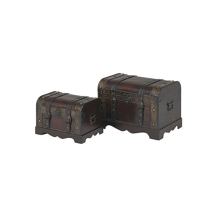 宝箱2点 ソルス W510×D350×H355mm 積層合板 合成皮革 おしゃれ(代引不可)【送料無料】
