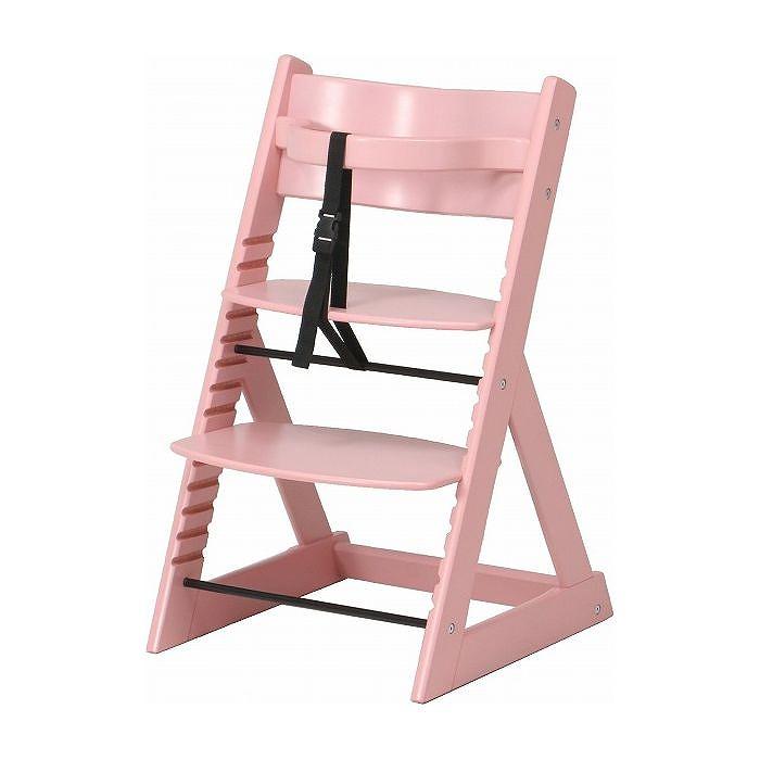 ベビーチェア グローアップチェアー W450×D505×H785mm 積層合板 おしゃれ ピンク(代引不可)【送料無料】
