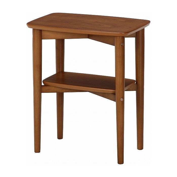 サイドテーブル スクエア ブラウン W450×D350×H530mm 天然木化粧繊維板 おしゃれ(代引不可)【送料無料】
